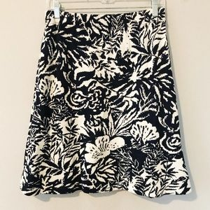 St John Collection Floral Knit Skirt Sz 10